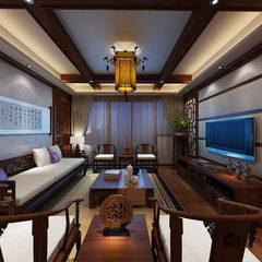 中式风格室内全景图